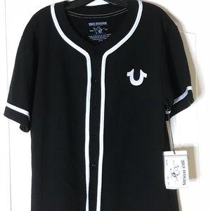 True Religion Men's Baseball Button up Shirt SZ XL